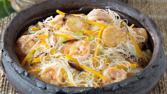 南瓜海鮮炒米粉