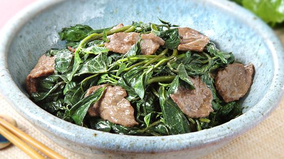 蕃薯葉炒牛肉