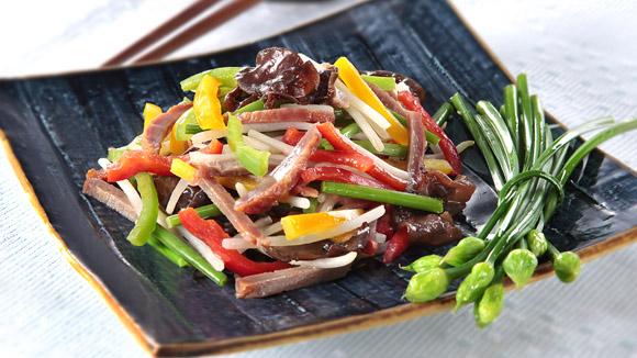 叉燒銀芽炒野菜