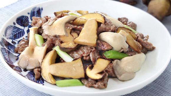 鴛鴦菇炒牛肉