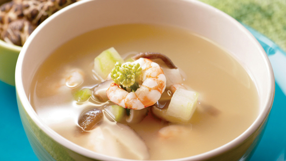 冬瓜冬菇蝦仁豬骨湯