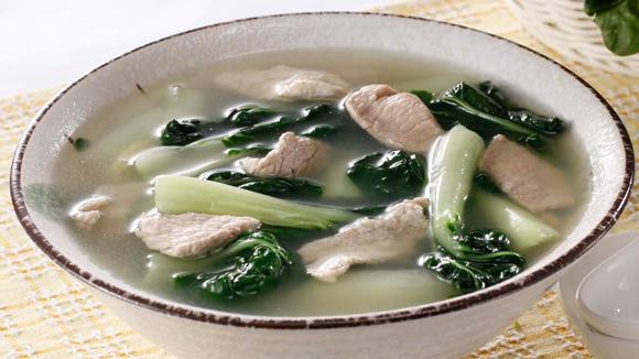 白菜肉片湯