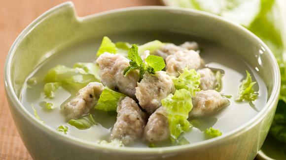 生菜魚滑湯