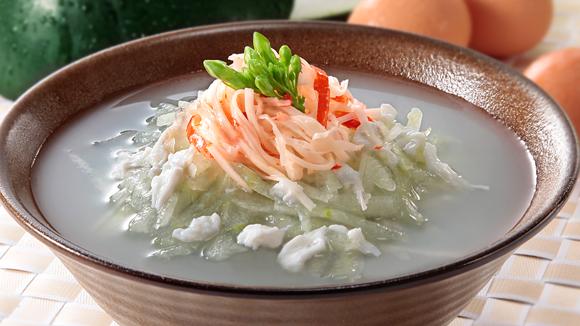 蛋白冬蓉蟹柳魚湯