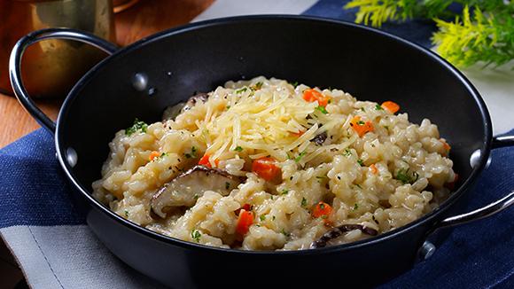 奶油白醬野菇燉飯