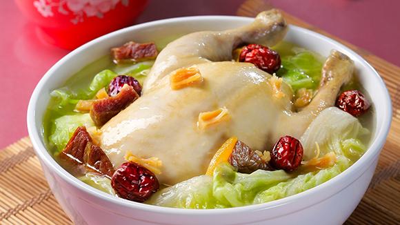 白菜燉全雞