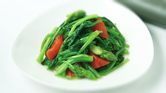 番茄炒菠菜