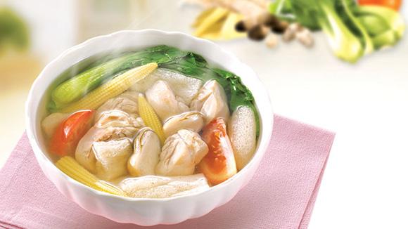 竹笙青蔬雞湯