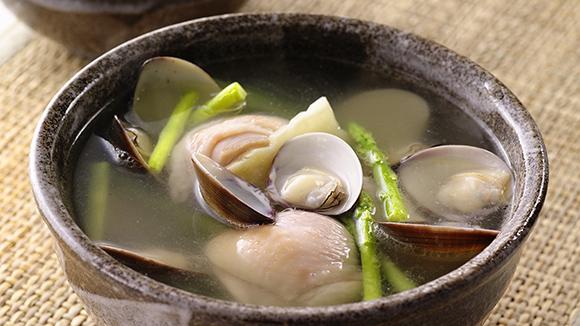 蘆筍蛤蜊雞湯