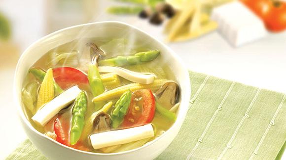 雙筍珍菇湯