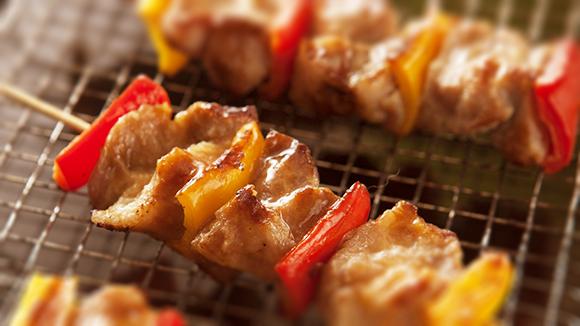 甜椒豬肉串