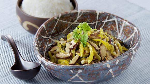 香菇絲炒酸菜