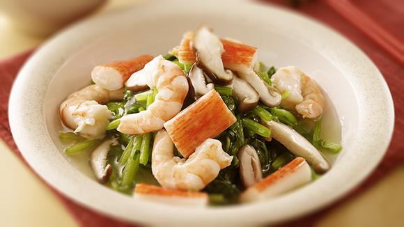 三鮮燴菠菜
