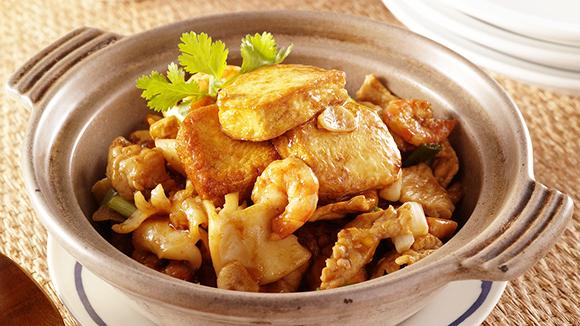 三鮮豆腐煲