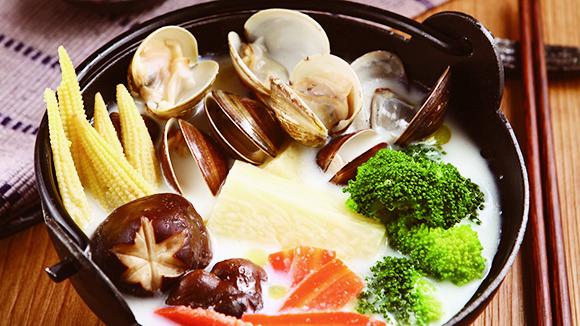 牛奶蛤蜊山藥鍋