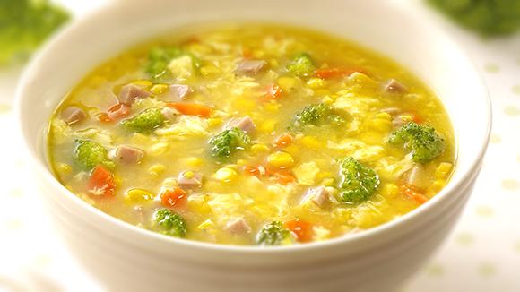 火腿玉米蔬菜湯