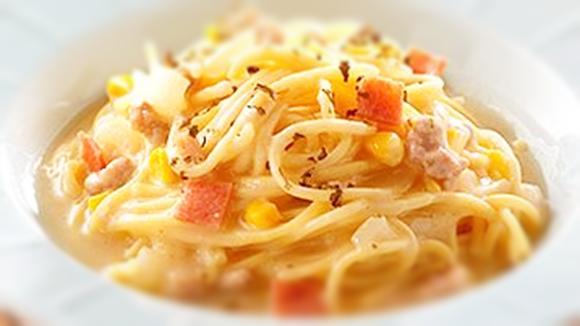 奶油火腿義大利麵