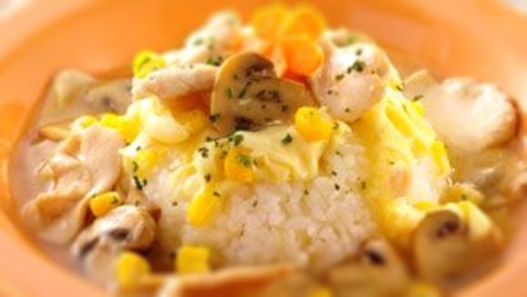蘑菇雞柳燴飯