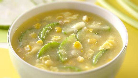 絲瓜甜玉米濃湯