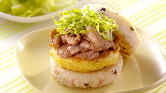 雙拼米漢堡