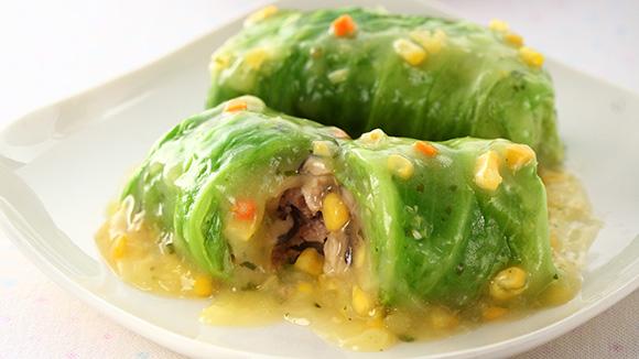 金黃蔬菜捲