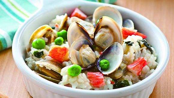 蛤蜊海鮮燉飯