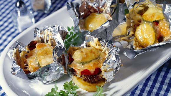 Kleine Kartoffel-Fleisch-Snacks