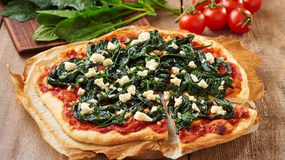 Spinatpizza