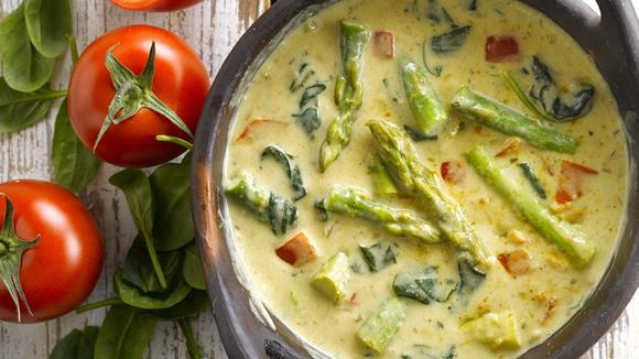 Spargel-Spinat Curry