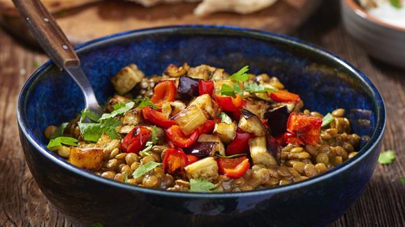 Melanzani-Linsen Curry