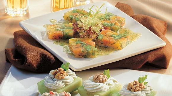 Gemüsesülzchen mit Karotten, Sellerie und Fisolen