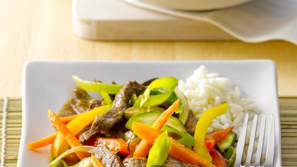 Rindfleisch-Gemüse aus dem Wok