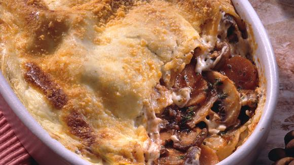 Lasagne mit Pilzfüllung und Rüebli