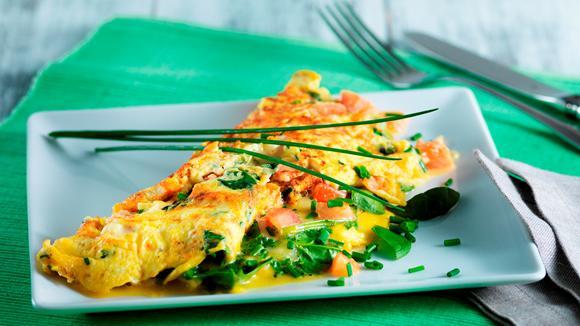 Gemüse-Käse-Omelette