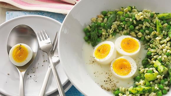 Zartweizen mit Eiern