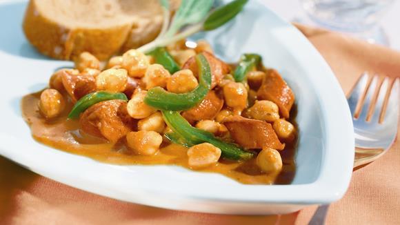Chili-Würstchen-Pfanne