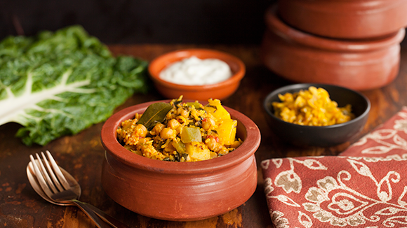 Vegetables and chickpea breyani recipe