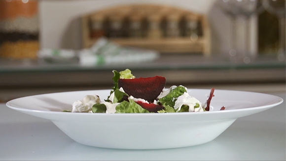 Салат с медом и йогуртом