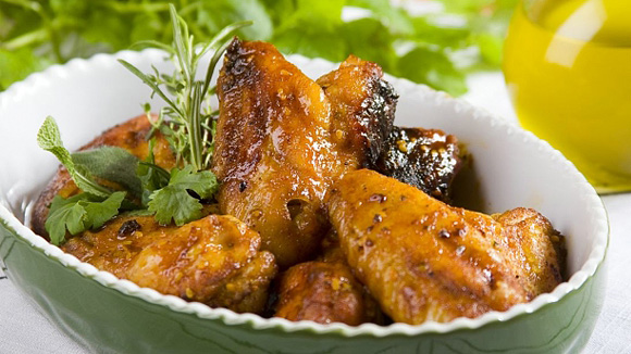 Куриные крылышки в меду и горчице