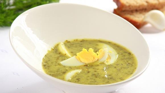 Суп с щавелем вареным яйцом рецепт с фото